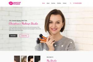 Вебсајт за Make-up студио 3