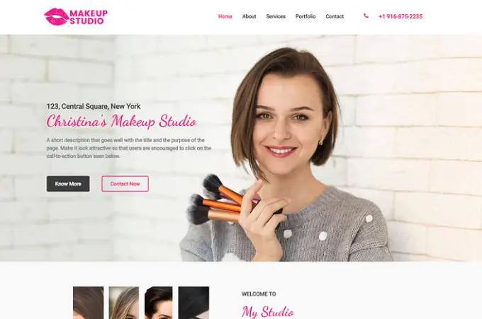 Вебсајт за Make-up студио 4